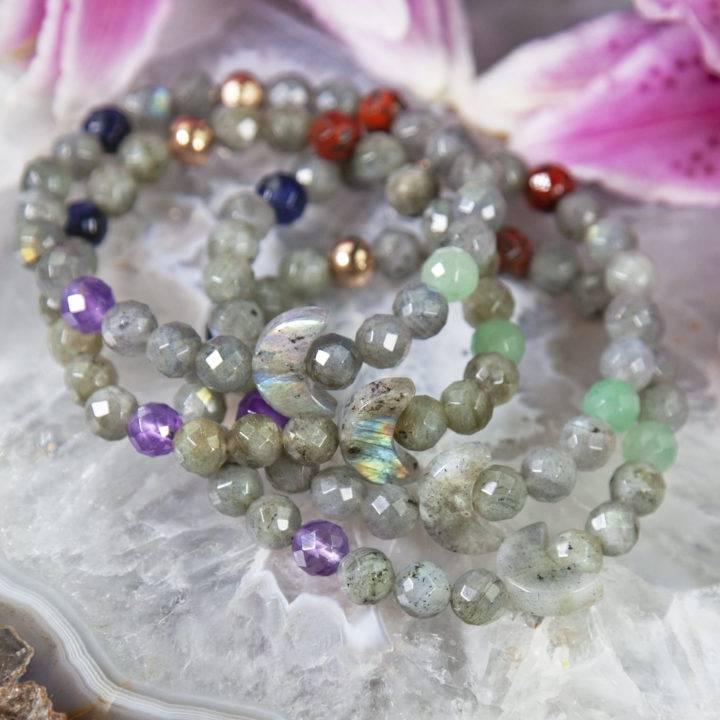 Labradorite Moon Intention Bracelets