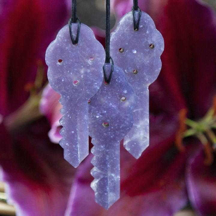 Lepidolite Key of Peace Pendants