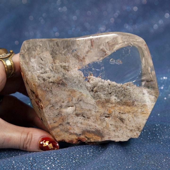 Lodolite in Quartz Polished Free Form