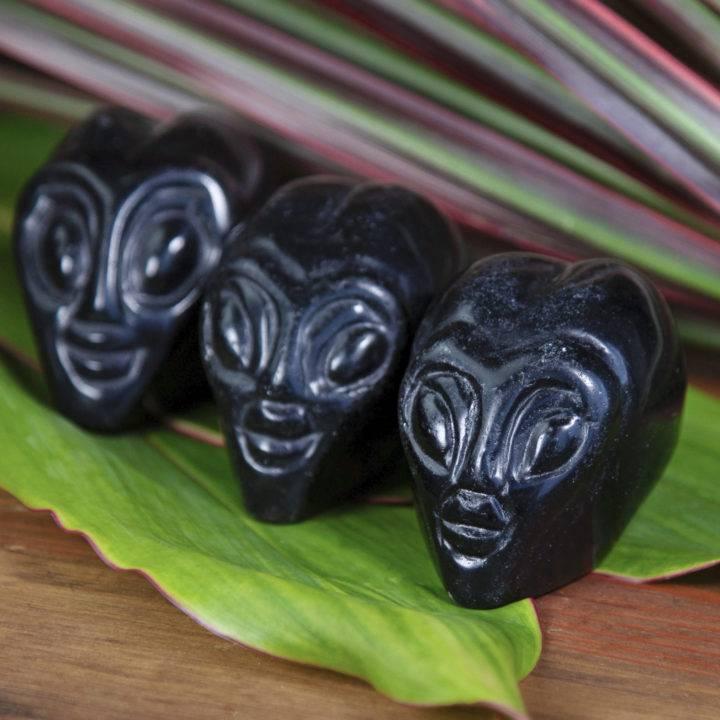 Black Obsidian Alien Skulls