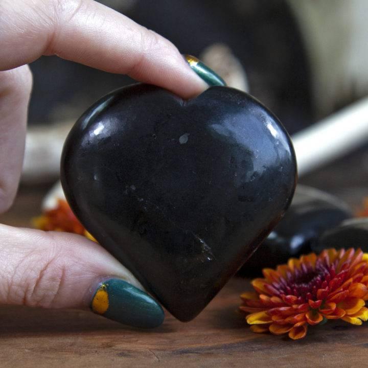 Black Tourmaline Protective Hearts