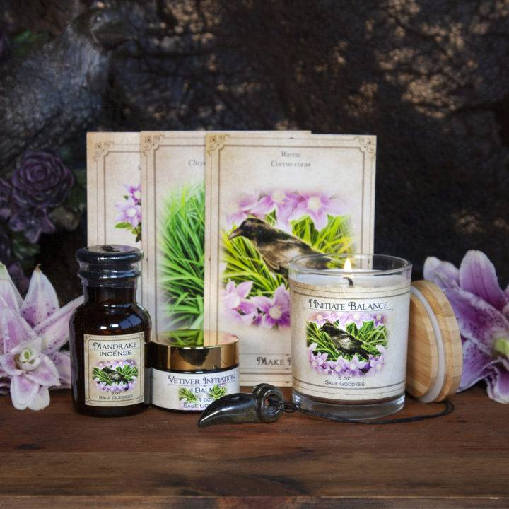 New Moon Enchanted Plant Wisdom: Mandrake and Vetiver Set