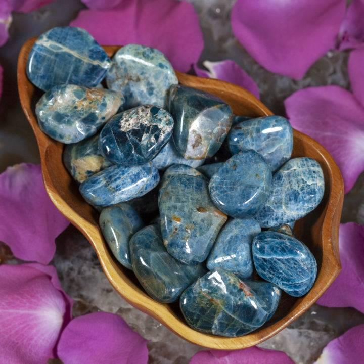 Tumbled Blue Apatite