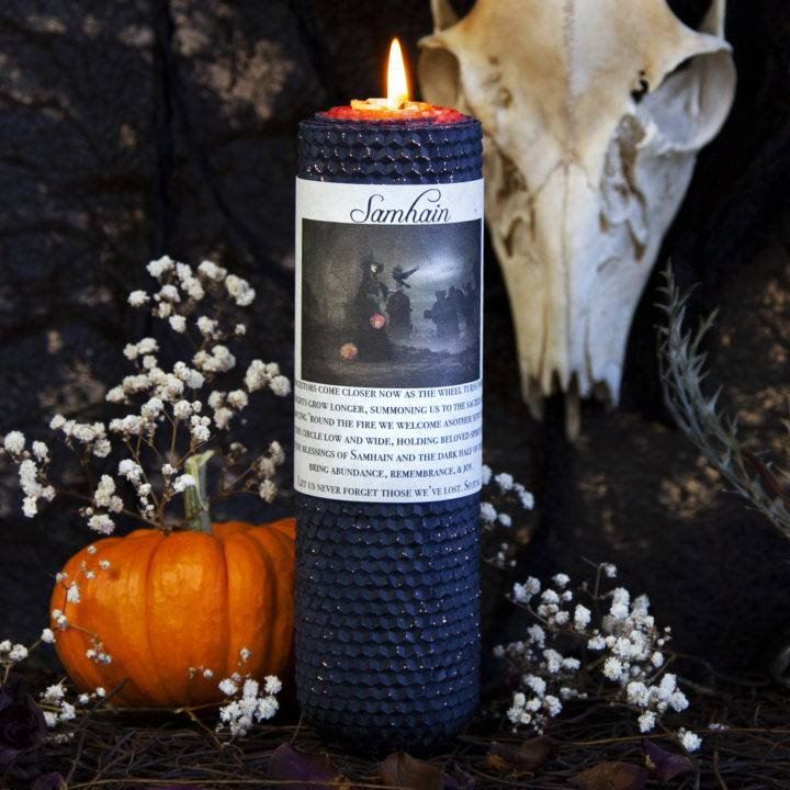 Samhain Beeswax Intention Candles
