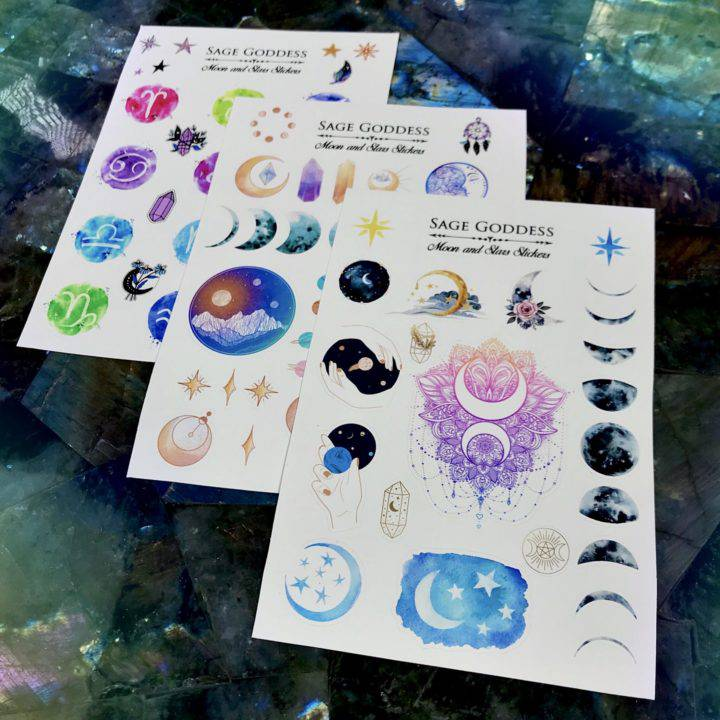 Moon, Planet, and Star Stickers