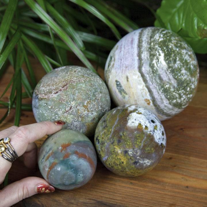 Ocean Jasper Pure Positivity Spheres