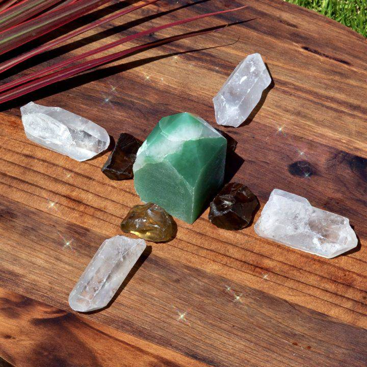 Outdoor Prosperity Crystal Grid