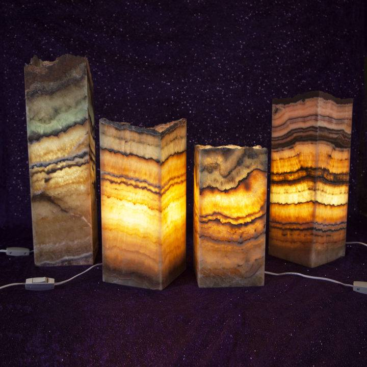 Peace of Mind Aqua Onyx Lamps