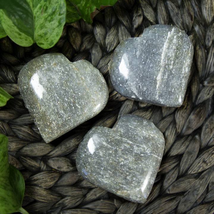 Portal of Love Silver Aventurine Hearts