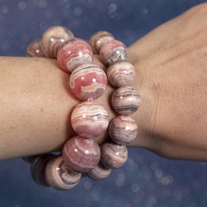 Rhodochrosite Bead Bracelets