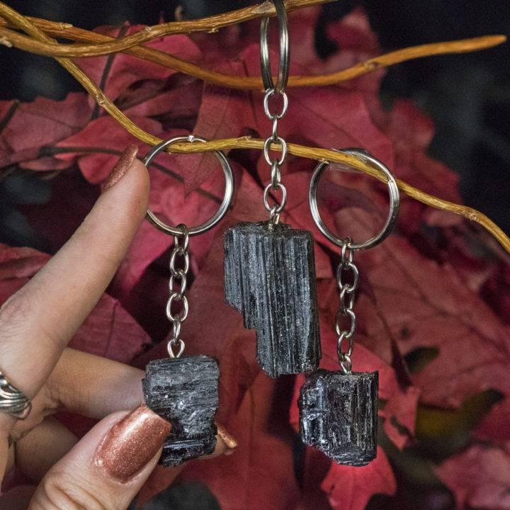 Safe and Secure Black Tourmaline Keychains