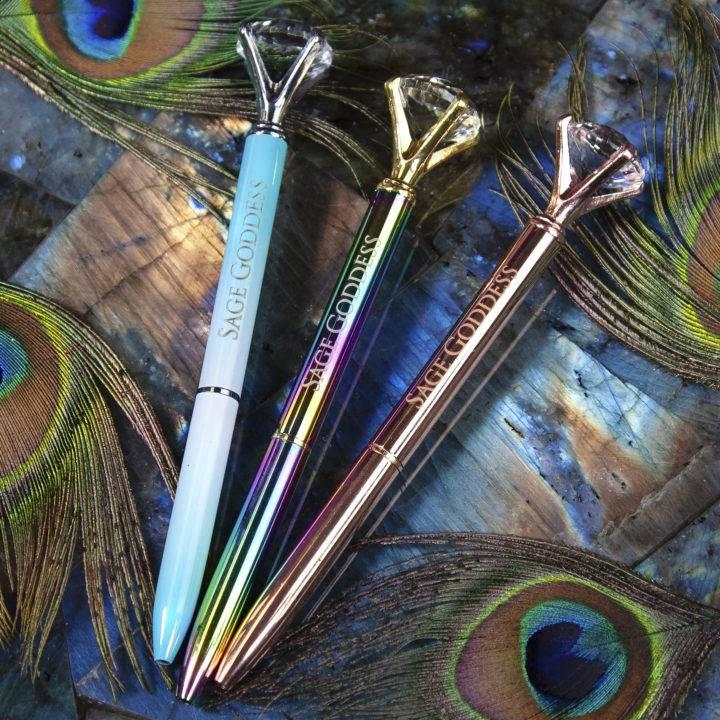 Sage Goddess Gemstone Pens