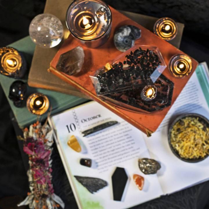 Spirit of Samhain Coffin Gemstone Set