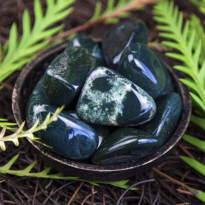 Tumbled Evergreen Jasper