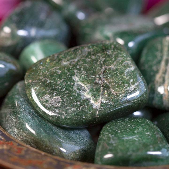 Tumbled Green Fuchsite