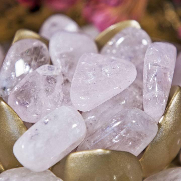 Tumbled pink danburite