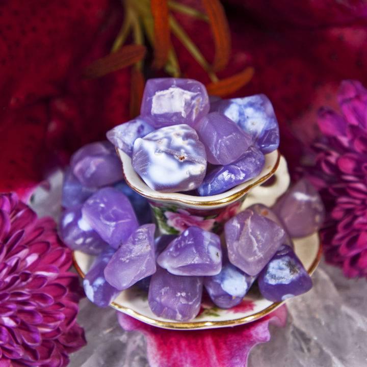 Tumbled Purple Chalcedony
