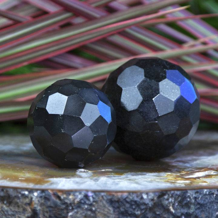 Ultimate Protection Black Tourmaline Faceted Spheres
