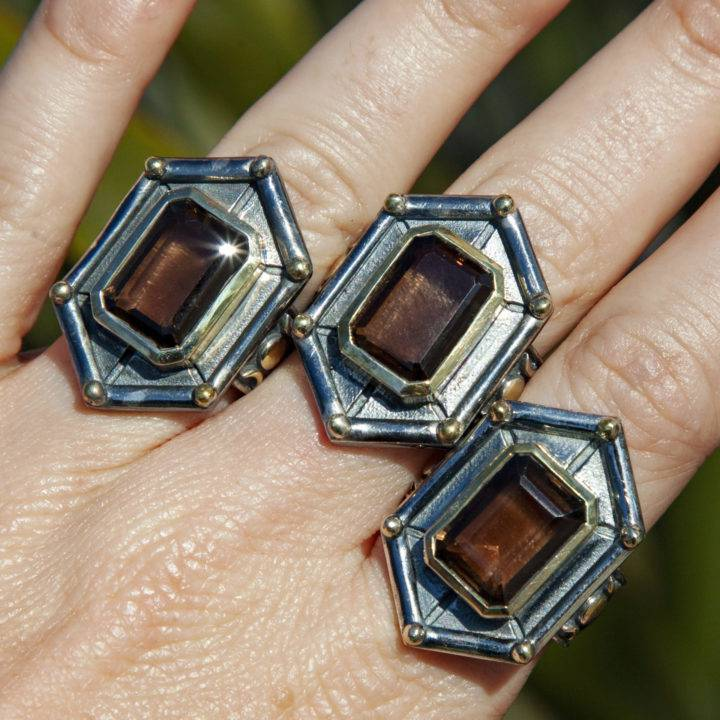 Athena's Shield Maiden Rings