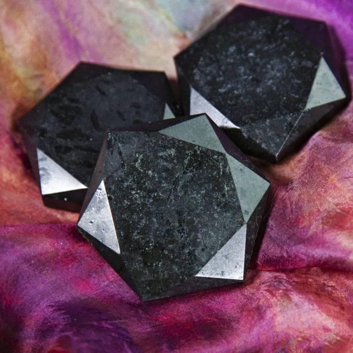 Black Tourmaline Hexagons