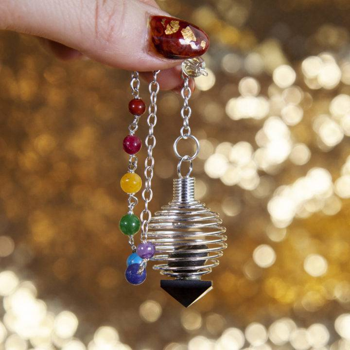 Black Tourmaline Caged Pendulum