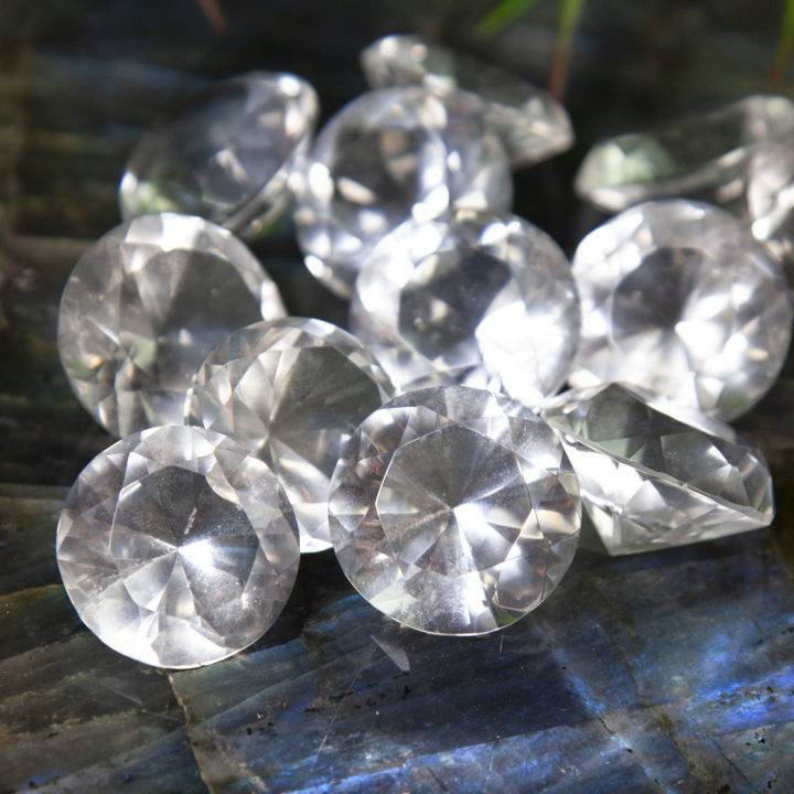 Clear Quartz Diamonds