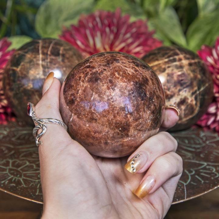 Calming and Grounding Garnet Spheres