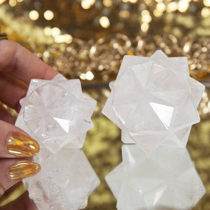 Clear Quartz 3D Metatron's Cubes