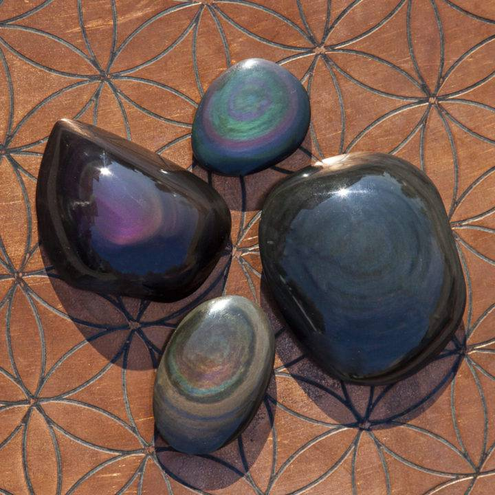 Freeform Rainbow Obsidian