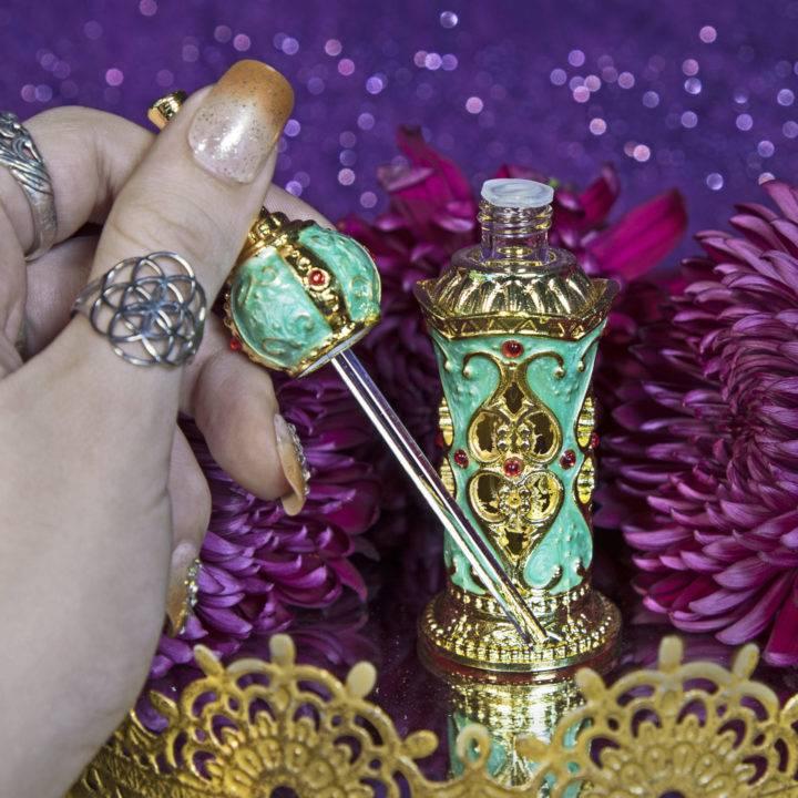Green Vintage Style Perfume Bottles