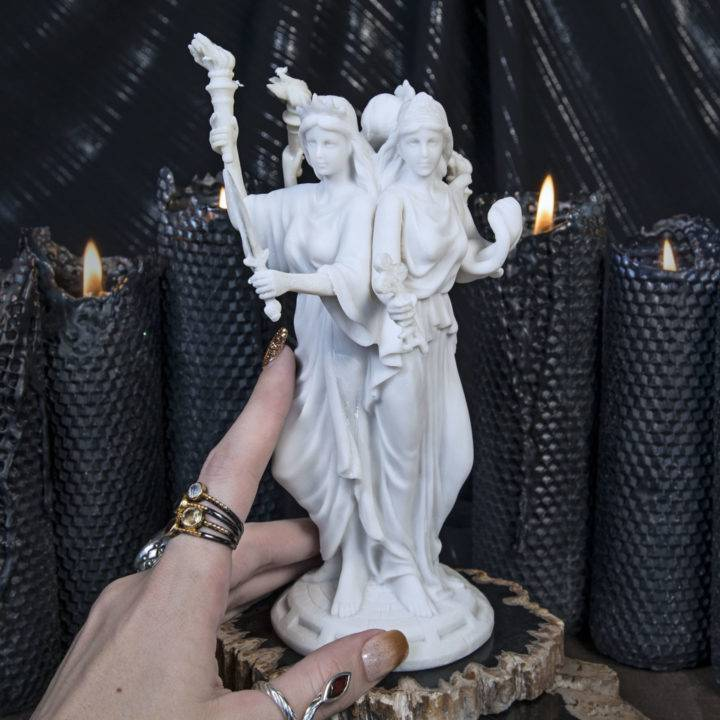 Hecate Moon and Magic Goddess Statues