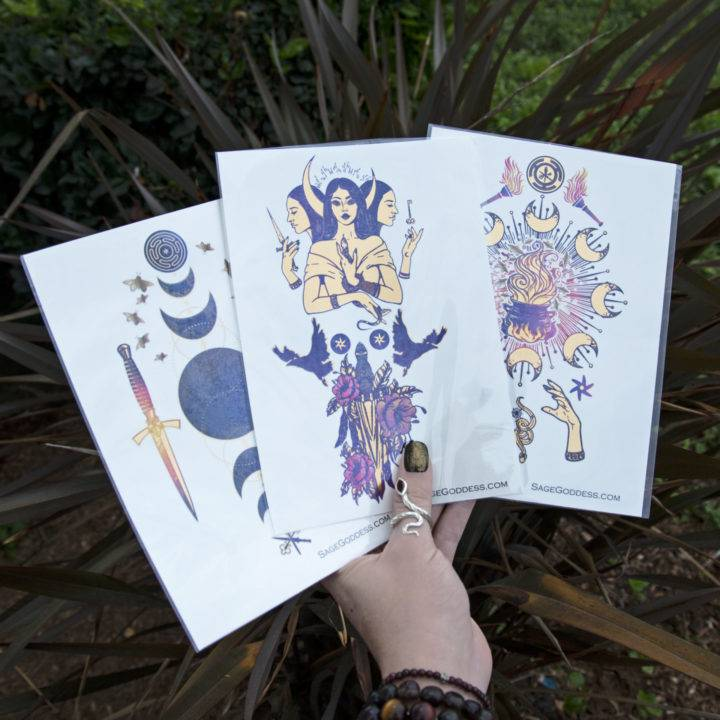 Hecate Flash Tattoos