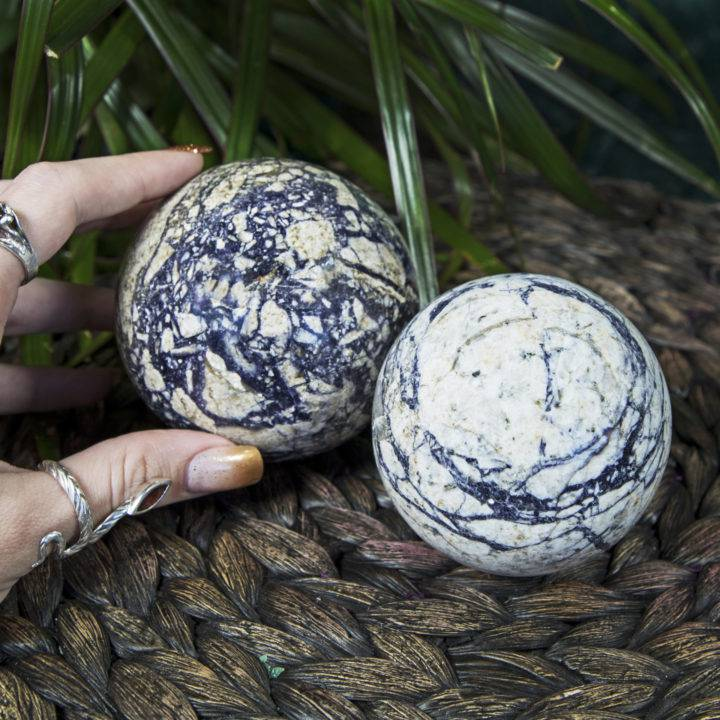 Indian Picasso Jasper Shadow Integration Spheres