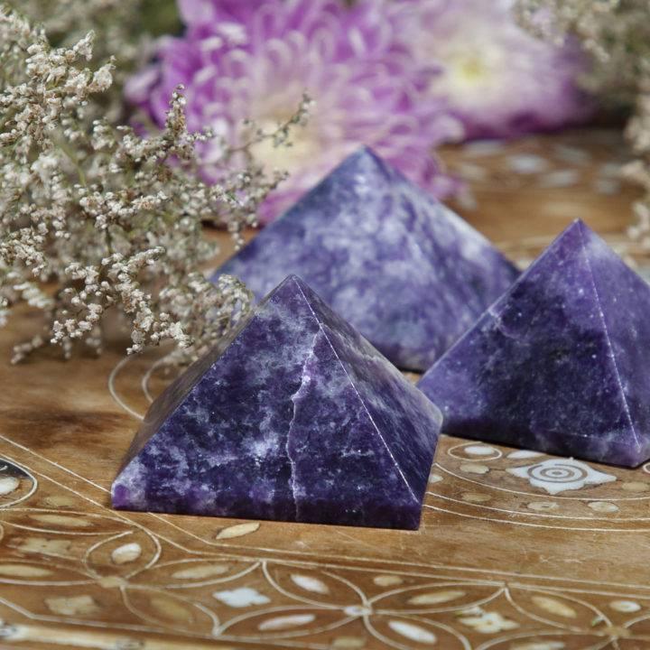 Lepidolite Peace Pyramids