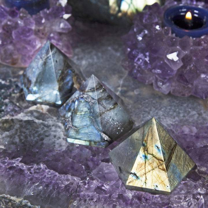 Labradorite Hexagonal Pyramids