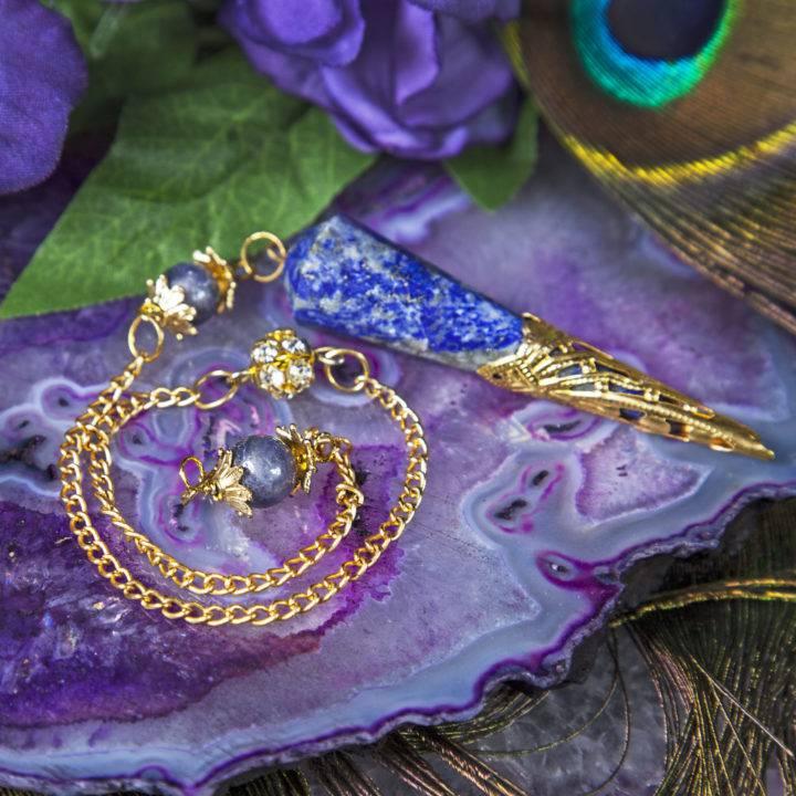 Lapis and Iolite Pendulums