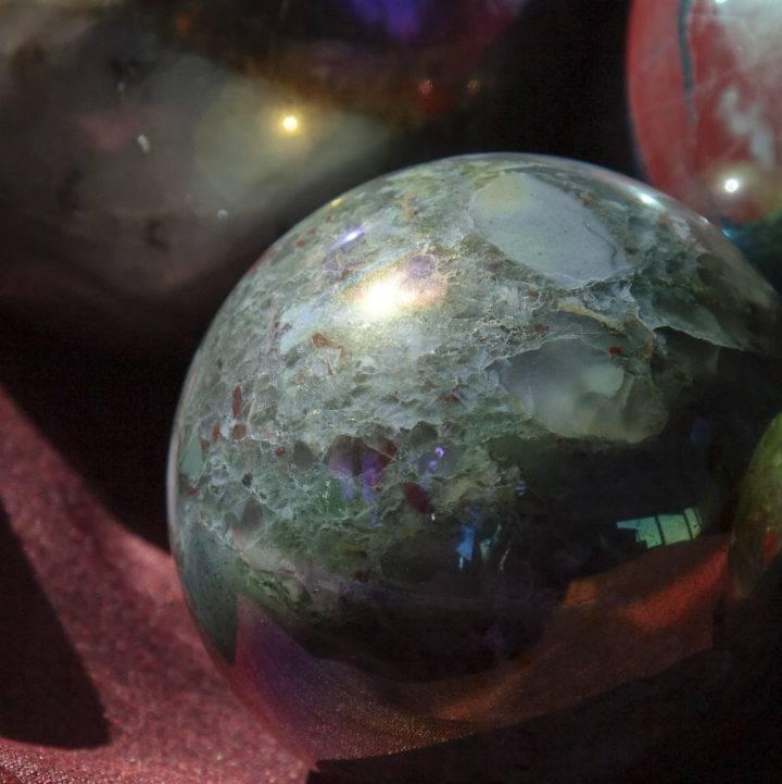 Aura African Bloodstone Spheres