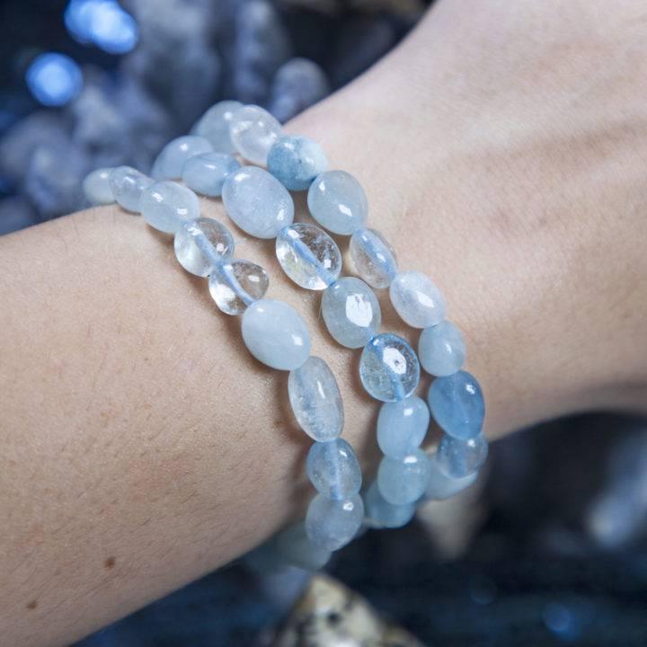 Mermaids' Treasure Aquamarine Bracelets