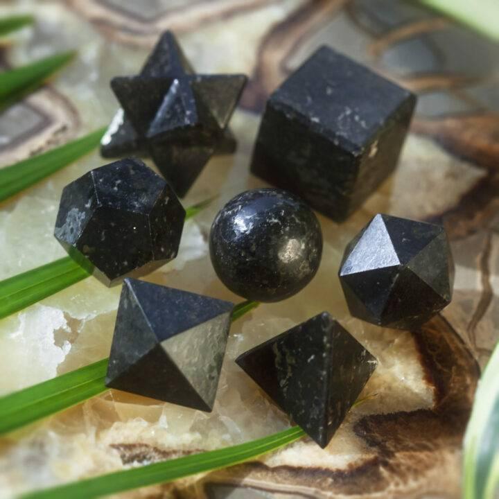 Nuummite Sacred Geometry Set