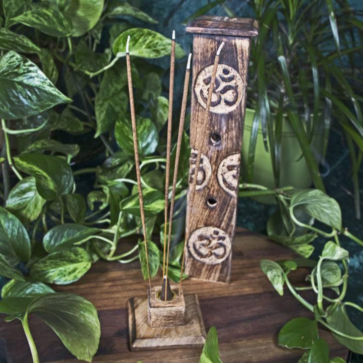 Om Hand-Carved Incense Burners