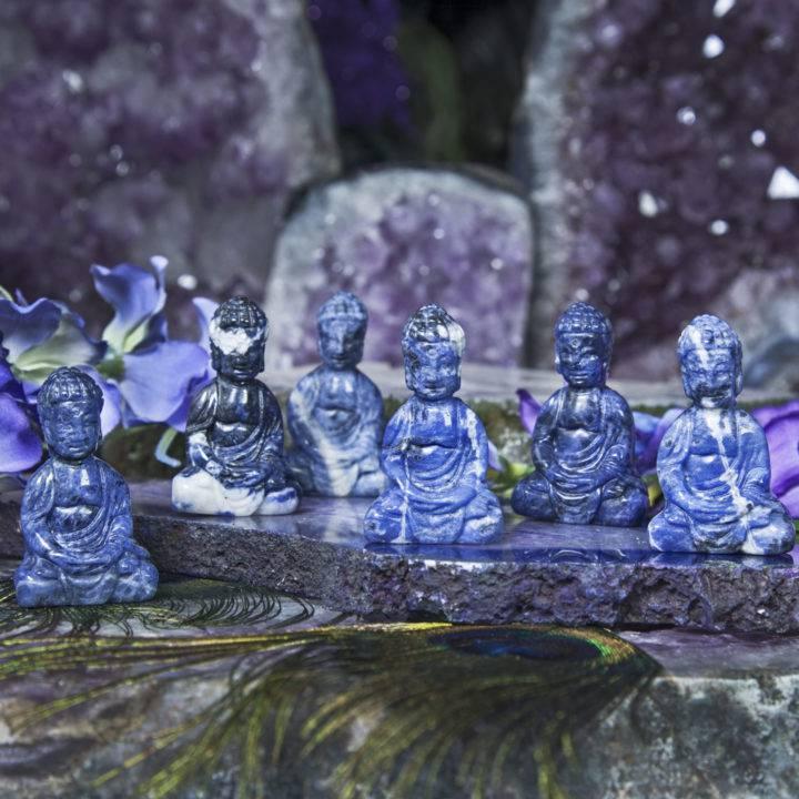 Peaceful Presence Sodalite Buddhas