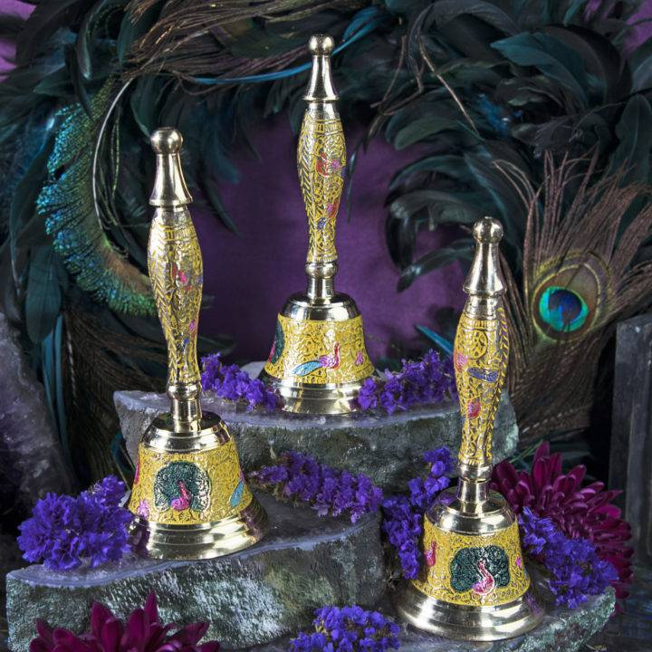 Peacock Protection Altar Bells