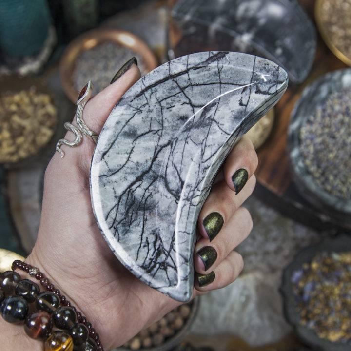 Picasso Jasper Crescent Moon Bowls