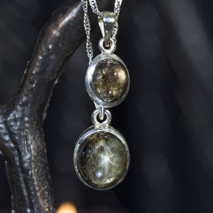 Psychic Attuning Black Star Sapphire Pendants