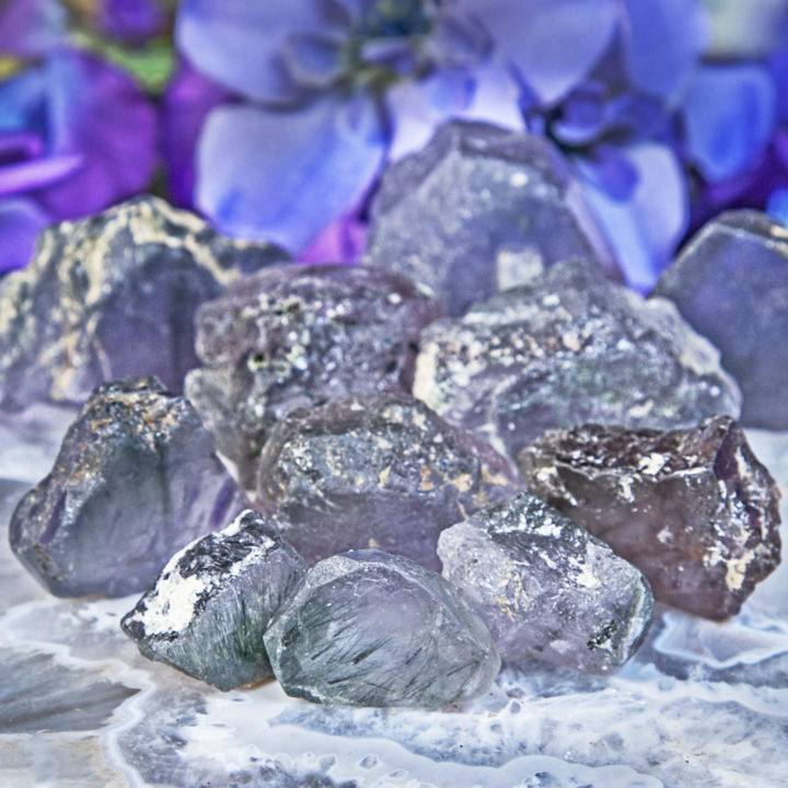 Natural Purple and Green Apatite