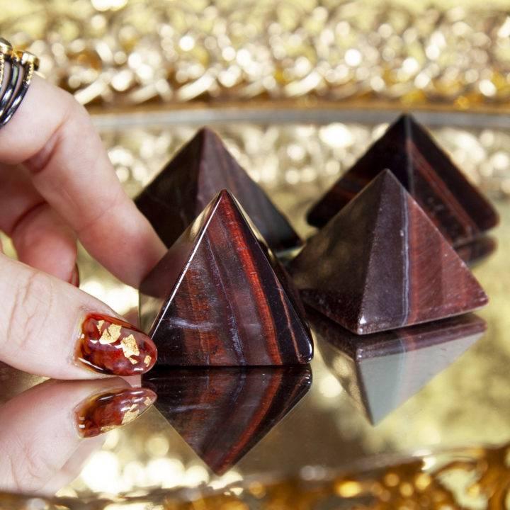 Red Tiger's Eye Pyramids