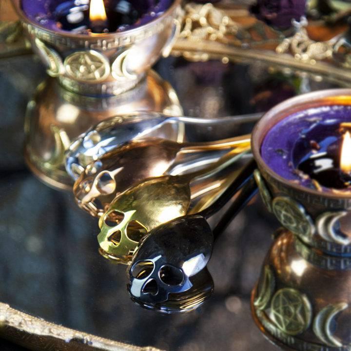 Samhain Skull Spoons