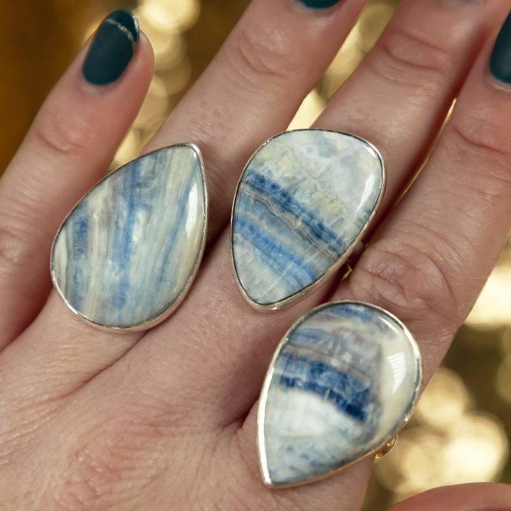 Scheelite Sterling Silver Adjustable Ring