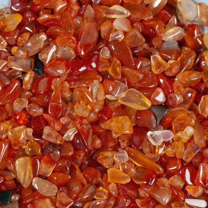 Tumbled Carnelian Chip Stones