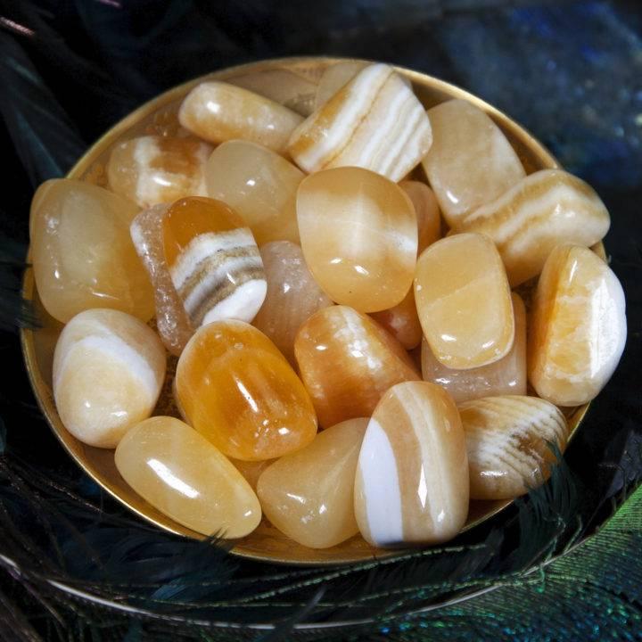 Tumbled Orange Calcite